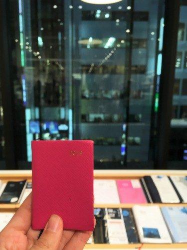 Una agenda en Itoya, Ginza, Tokio, Japón