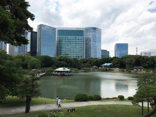 Hama-Rikyu, Tokio, Japón