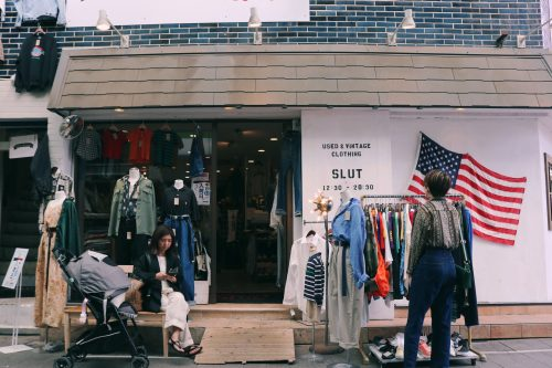 Tienda vintage en el barrio de Koenji, Suginami, Tokio, Japón