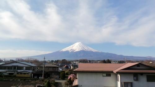 Vue du mont Fuji dans l'hôtel Lakeland Mizunosato