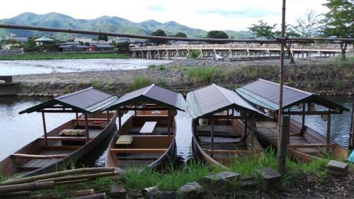 Bateaux vus du pont Togetsukyo