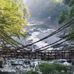 Kazurabashi, le pont suspendu de la rivière Iya, sur l'île de Shikoku