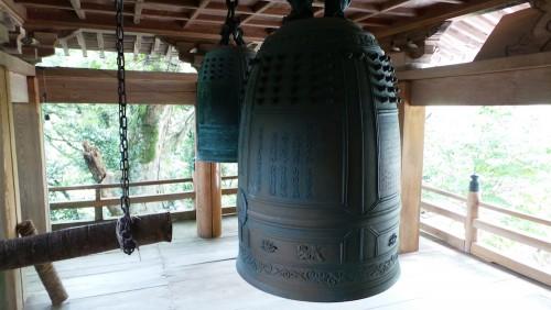 Les cloches en bronze du temple Monjusenji, dans la péninsule de Kunisaki, préfecture d'Oita sur l'île de Kyushu