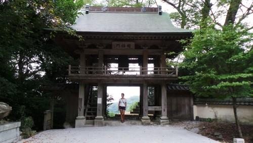 Le clocher du temple Monjusenji, dans la péninsule de Kunisaki, préfecture d'Oita.