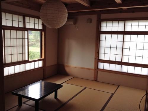Chambre d'un minshuku Yamakoshi, Niigata, Japon.