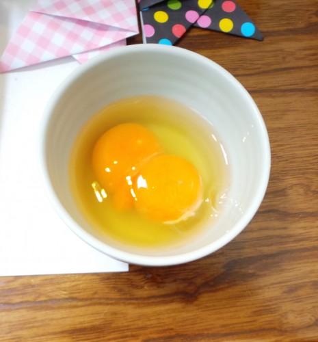 Préparer l'Oyako-don d'Izumi : deux jaunes d'oeuf !