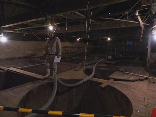 Process de fabrication artisanal de la maison Meijiya Shoyu, fabrique de sauce soja d'Hamamastu, Shizuoka