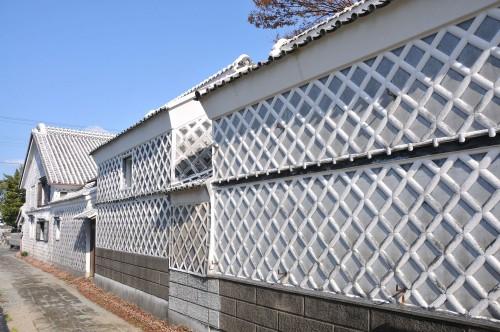 Mur typique époque Edo à Matsuzaki, l'un des plus beaux villages du Japon situé dans la péninsule d'Izu à Shizuoka.
