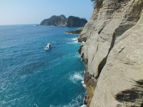 La grotte de Dogashima Tensodo au départ de Dogashima, péninsule d'Izu, Shizuoka.