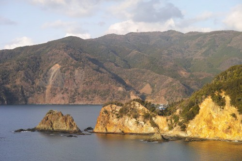 Vue du parc Koganezaki dans la péninsule d'Izu, Shizuoka.