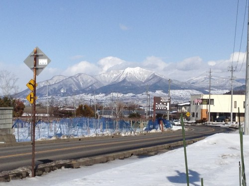 Onsen avec singes des neiges de la ville d'Obuse dans la préfecture de Nagano, Japon.