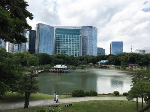 Jardin de Hama-Rikyu à Tokyo, Japon.