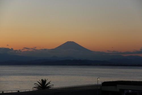 Mount Fuji, Enoshima, Japon.