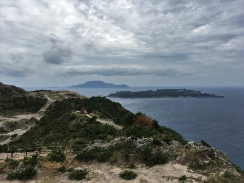 La vue depuis le panorama d'Ishiyama - Niijima, Tokyo