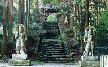 Statues nio devant la porte du Futagoji