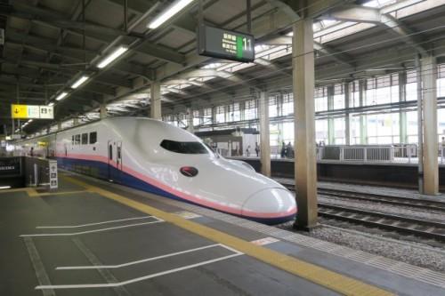 Le Shinkansen pour se rendre à Yamakoshi, dans la préfécture de Niigata