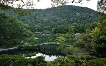 Le jardin Risturin à Takamatsu dans la préfecture de Kagawa au Japon
