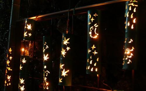 Festival des lanternes d'Ogi, Kiyomizu Take Akari, Saga, Kyushu, Automne