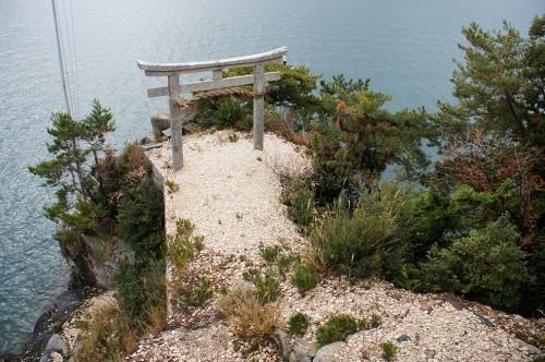 Chikubu-shima, Hikone, île sacrée, lac Biwa, Shiga, Kawarake