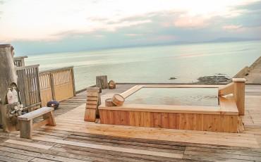 Le rotenburo, ou bain en plein air.