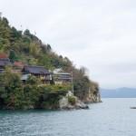 L'île sacrée de Chikubu sur le Lac Biwa