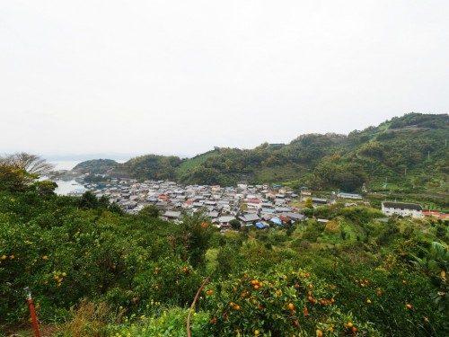Le village de Akehamacho Karihama au milieu des vergers.