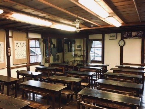 Salle de classe inchangé depuis la période Meiji.