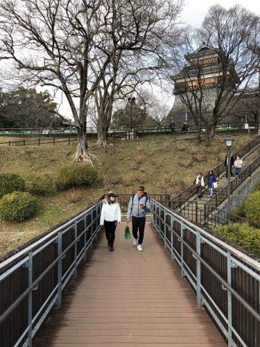 Château de Kumamoto, travaux, Japon, Kyushu