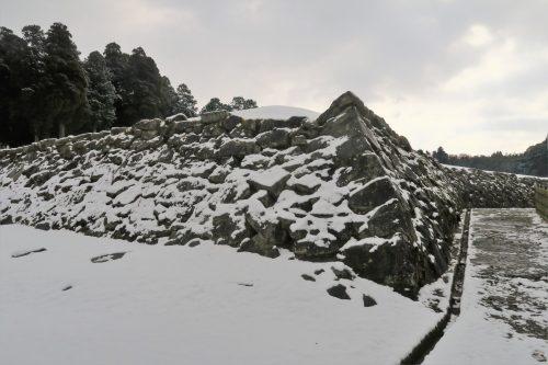 Hitoyoshi, mont Aso, Kumamoto, Japon, ruines du château