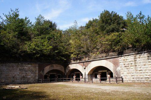 Vestiges de guerre sur l'île d'Okunoshima, Préfecture d'Hiroshima, Japon