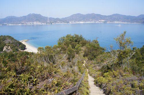 Vue sur la Mer Intérieure de Seto depuis l'île d'Okunoshima, Préfecture d'Hiroshima, Japon