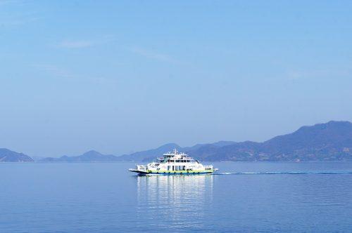 Ferry pour repartir de l'île d'Okunoshima, Préfecture d'Hiroshima, Japon