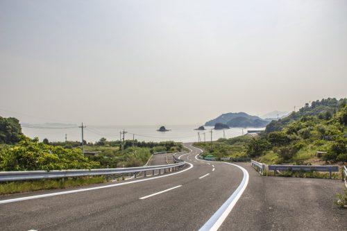 Point de vue sur la Mer Intérieure de Seto depuis la Shimanami Kaido, dans la région de Setouchi au Japon