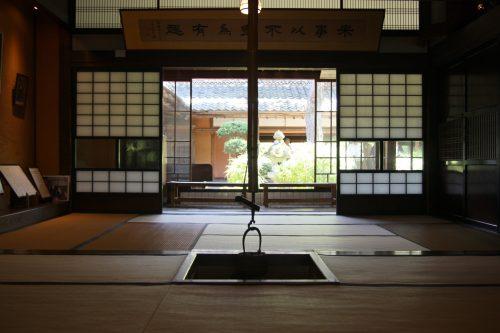 Dans la maison de la famille Ito au musée des cultures du Nord à Niigata, Japon