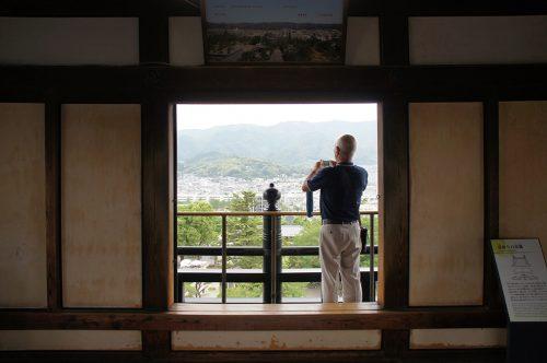 Depuis le château de la ville de Kochi, sur l'île de Shikoku, Japon