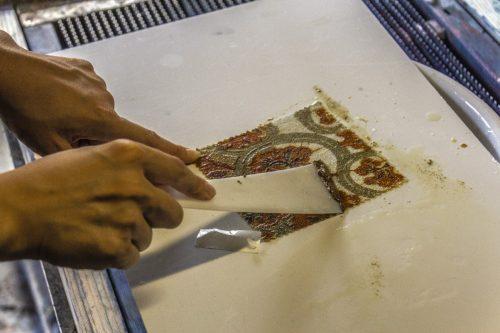 Technique d'impression sur tissu à Murakami, dans la Préfecture de Niigata, Japon