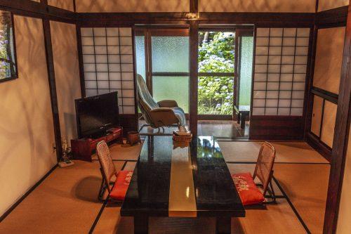 Salle de repos de l'auberge Goushikan près de Murakami dans la préfecture de Niigata, Japon