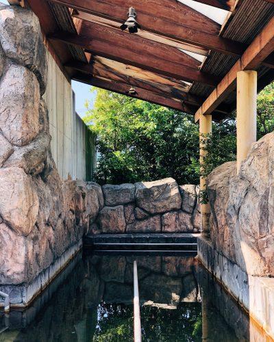 Onsen du ryokan Riraku de la ville de Toon, préfecture d'Ehime, Japon