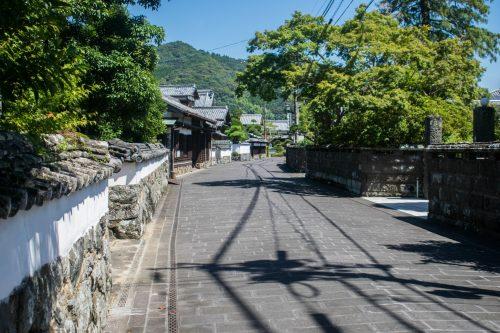 Allée historique dans la ville de Saiki, préfecture d'Oita, Japon