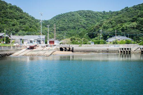 Arrivée sur l'île d'Ohnyujima, préfecture d'Oita, Japon
