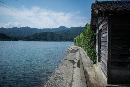 Maison typique et paysage naturel sur l'île d'Ohnyujima, préfecture d'Oita, Japon