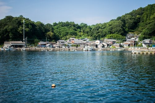 Village de pêcheurs sur l'île d'Ohnyujima, préfecture d'Oita, Japon