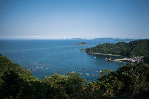 Point de vue au sommet de l'île d'Ohnyujima, préfecture d'Oita, Japon