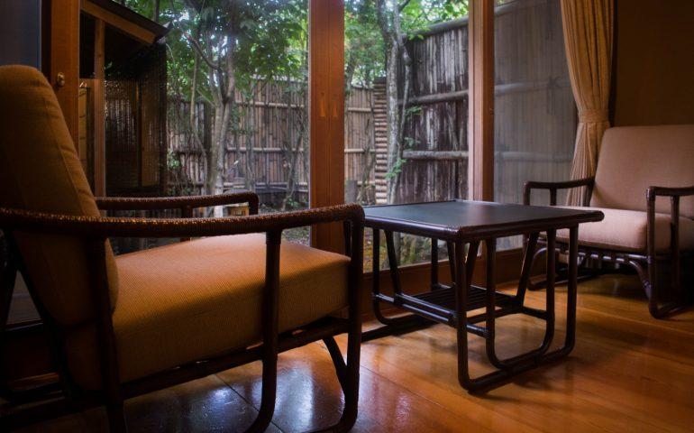 ryokan de luxe et repas v g tarien yufuin voyapon. Black Bedroom Furniture Sets. Home Design Ideas
