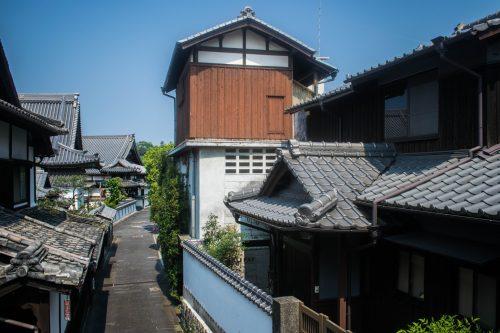 Rues typiques à Usuki, préfecture d'Oita, Japon