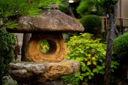 Jardin du Minshuku Warakuso à Takahama, Préfecture de Fukui, Japon
