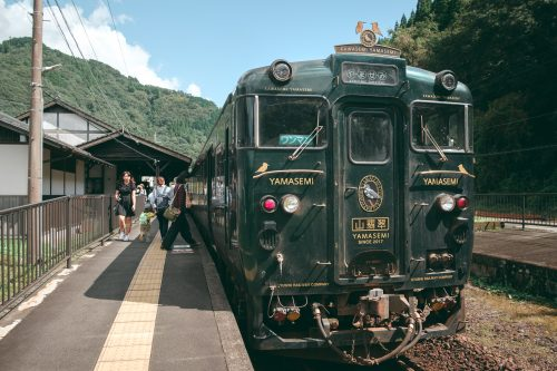 Ligne de train Kawasemi Yamasemi, préfecture de Kumamoto, Kyushu, Japon