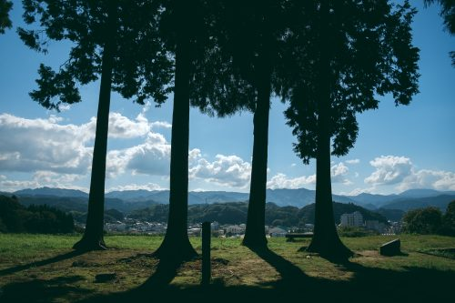 Ruines du château d'Hitoyoshi, préfecture de Kumamoto, Kyushu, Japon