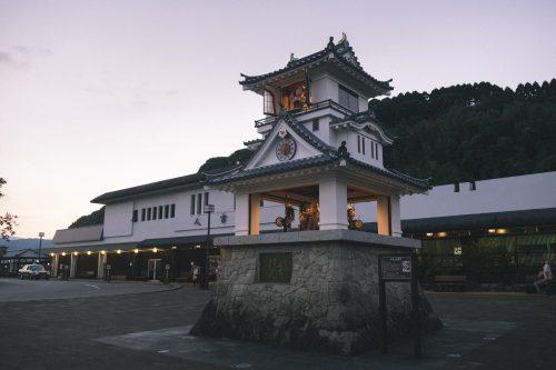 Gare d'Hitoyoshi, préfecture de Kumamoto, Kyushu, Japon