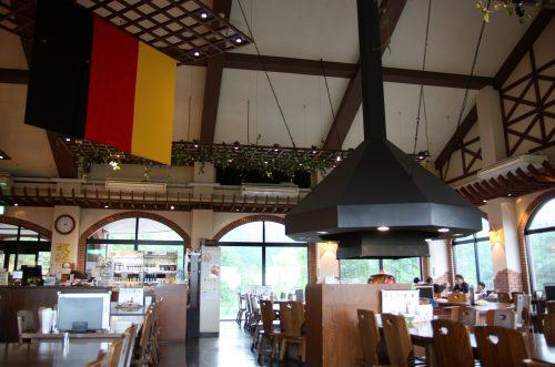 Salle du restaurant Bierhof Gambarius au pied du Mt Daisen, préfecture de Tottori, Japon